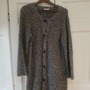 Talbots wool knit full length cardigan